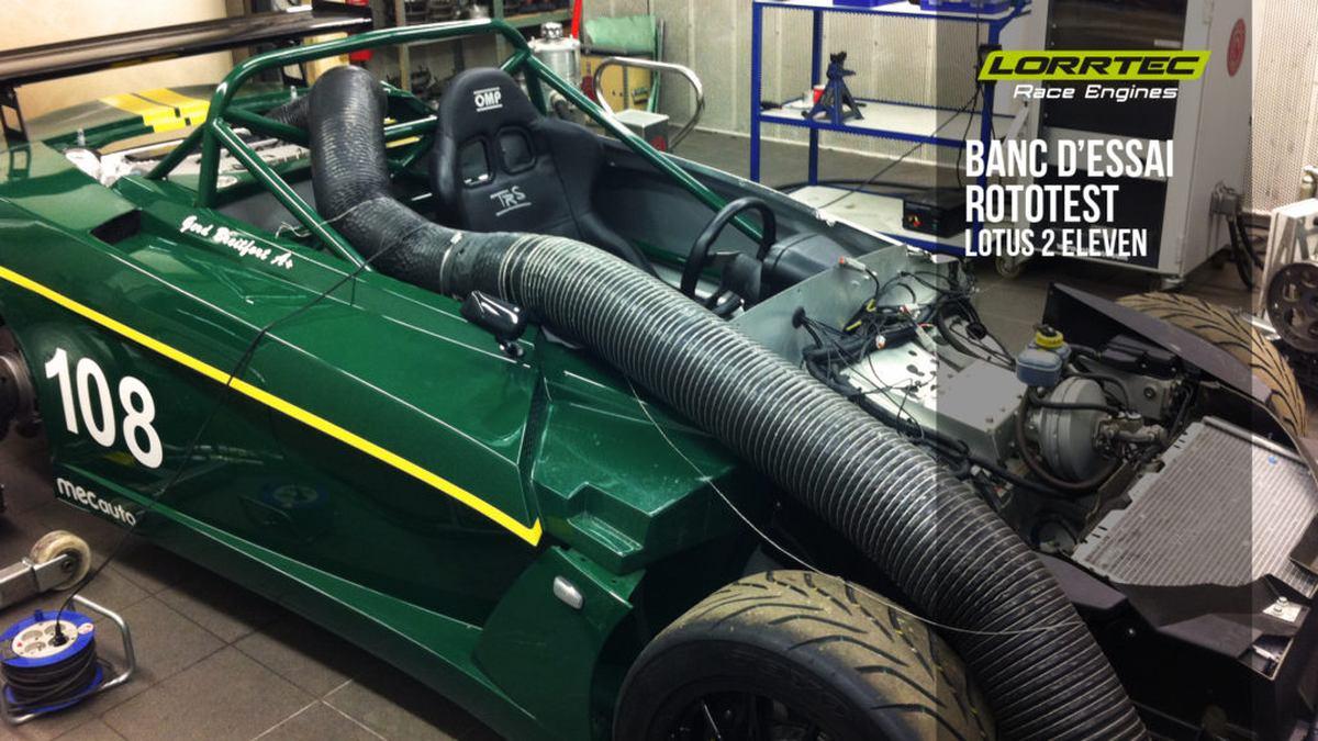 réglage sur banc d'essai Rototest Lotus 2 Eleven