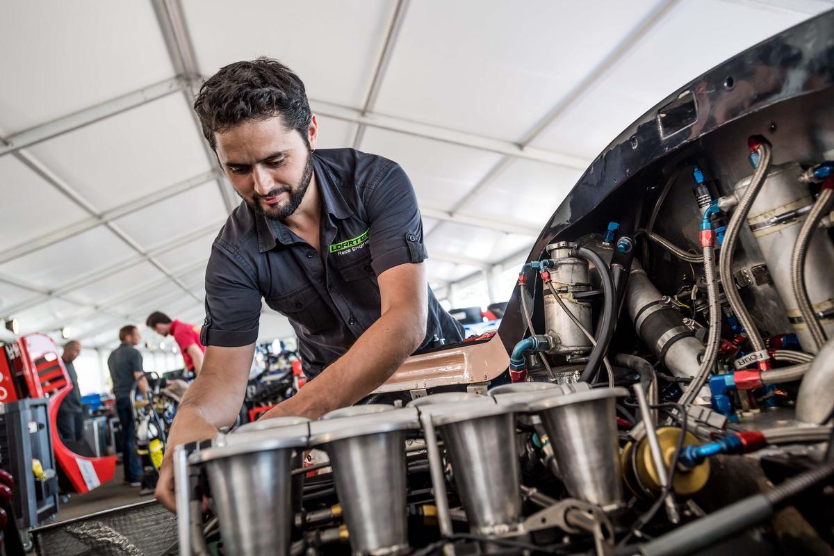réglages moteur Spice Groupe C V8 Cosworth Le Mans classic