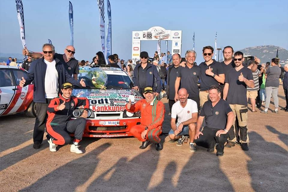 Serges Cazaux Sierra Cosworth 4x4 groupe A vainqueur Tour de Corse hitorique avec son assistance LORRTEC